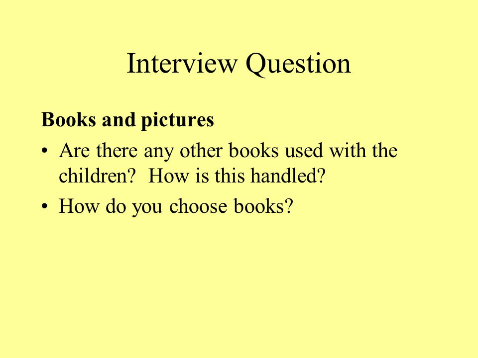 Interview Question Books and pictures