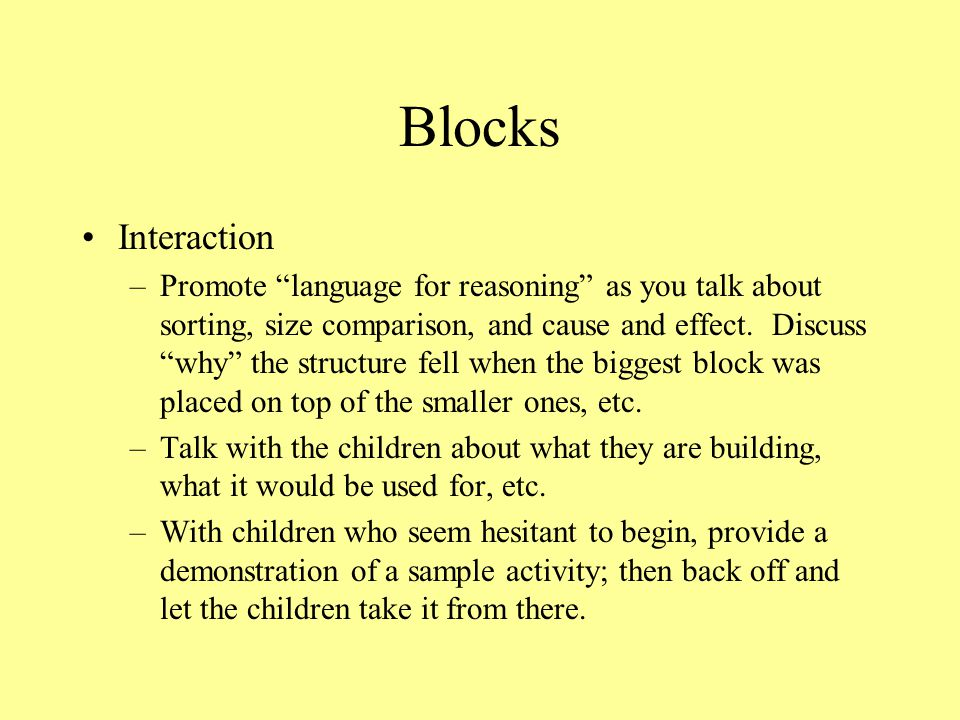 Blocks Interaction.