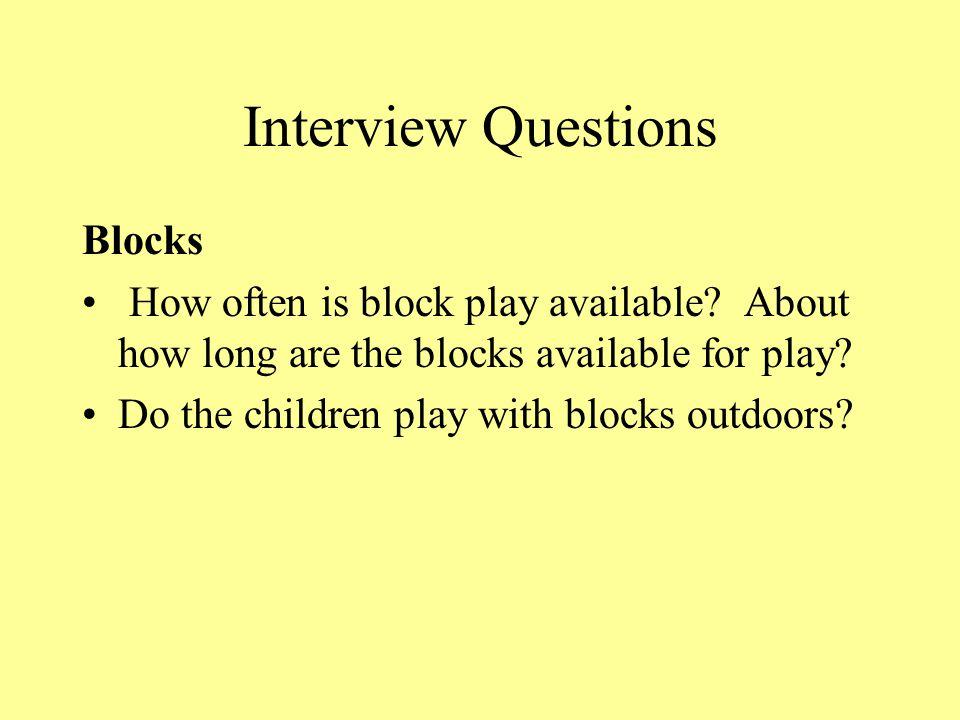 Interview Questions Blocks