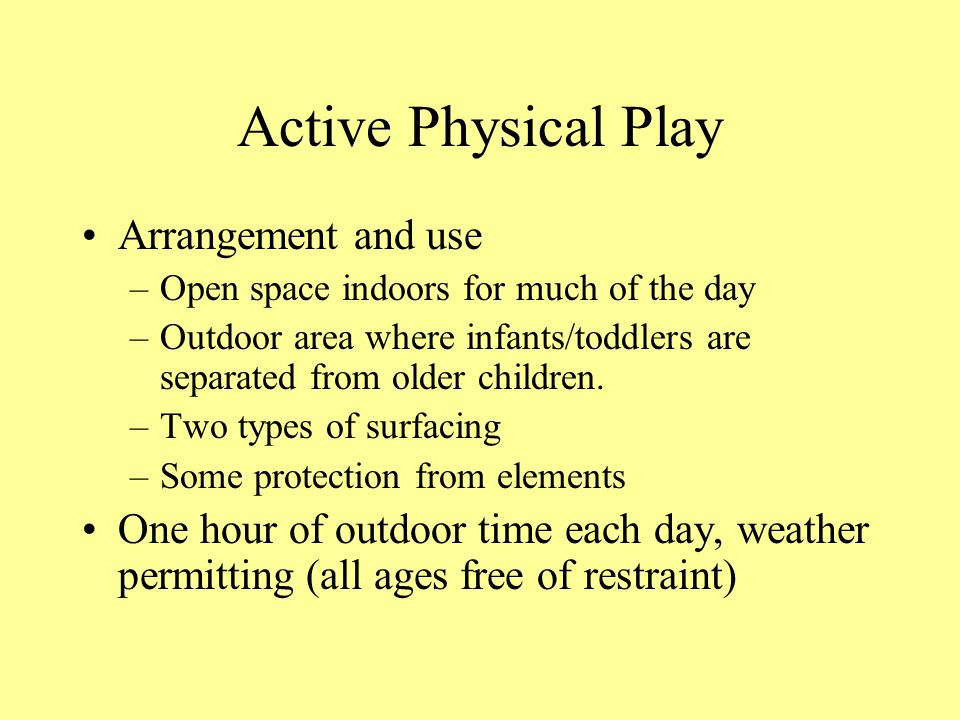 Active Physical Play Arrangement and use