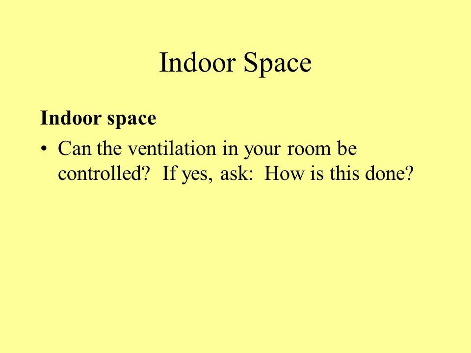 Indoor Space Indoor space