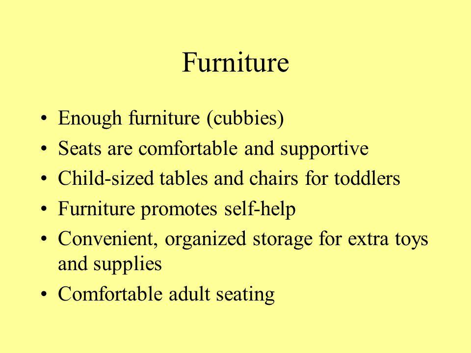 Furniture Enough furniture (cubbies)