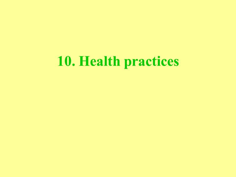 10. Health practices