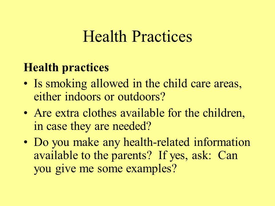Health Practices Health practices
