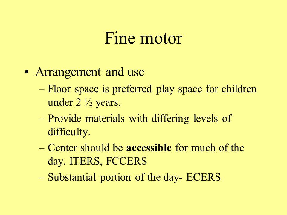 Fine motor Arrangement and use