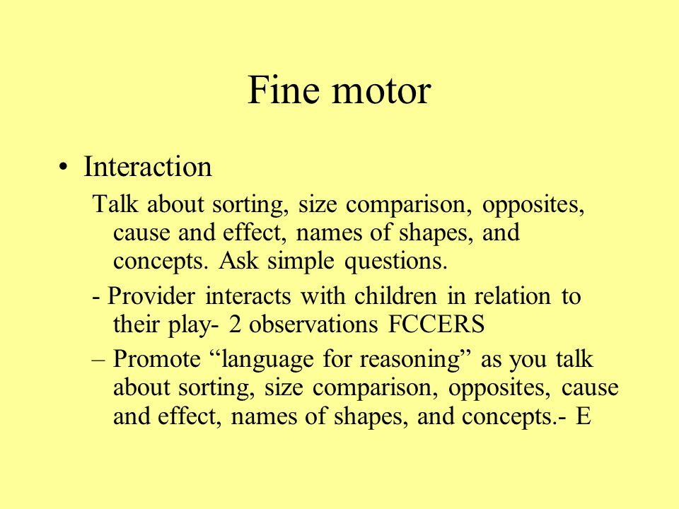 Fine motor Interaction