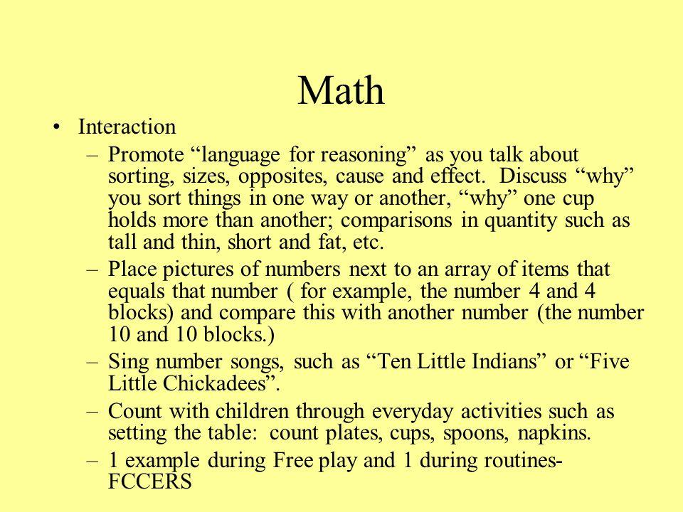 Math Interaction.