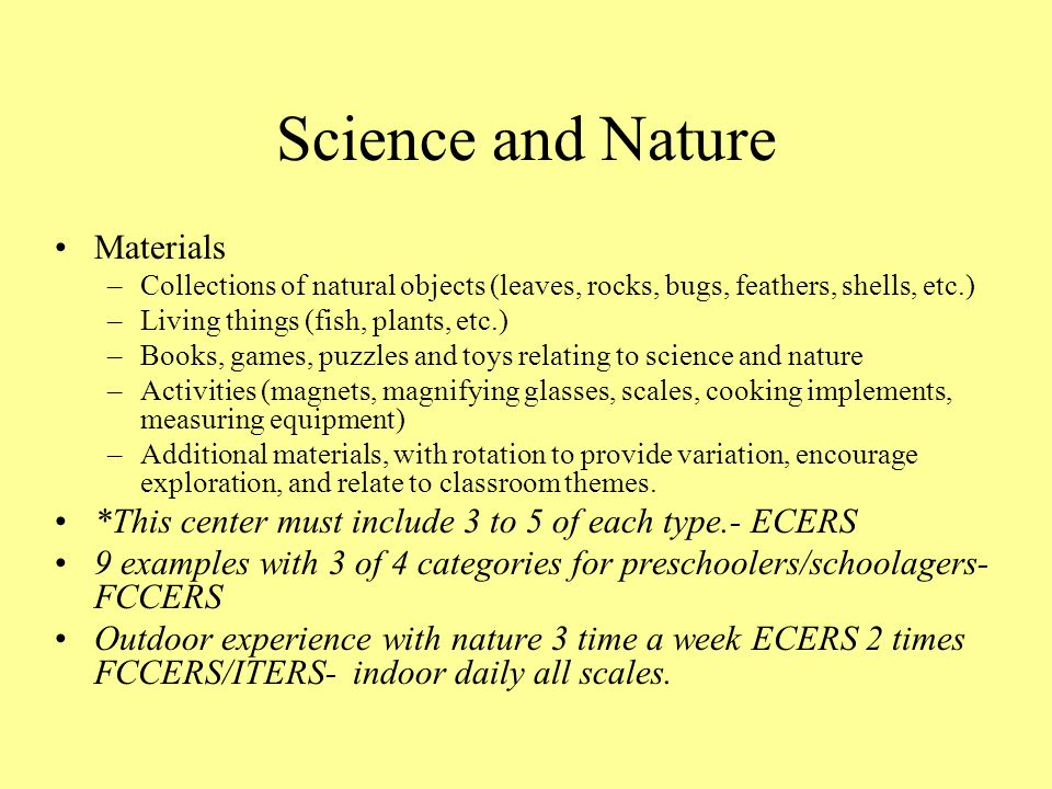 Science and Nature Materials