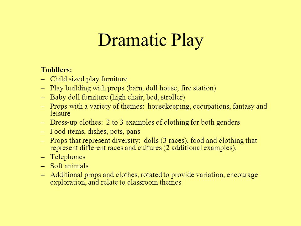Dramatic Play Toddlers: Child sized play furniture