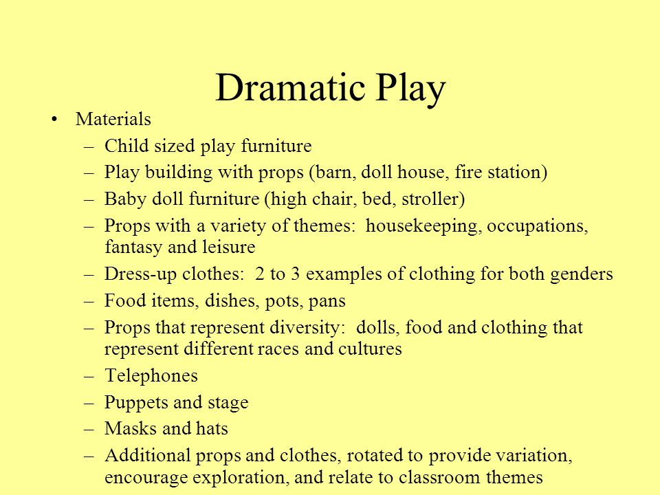 Dramatic Play Materials Child sized play furniture
