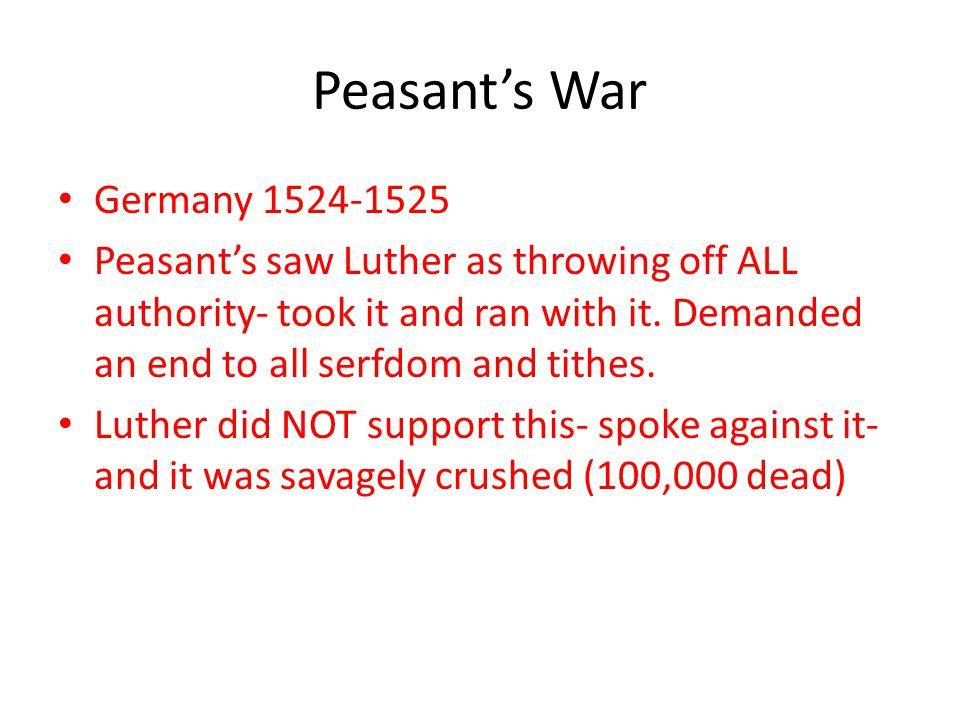 Peasant's War Germany 1524-1525