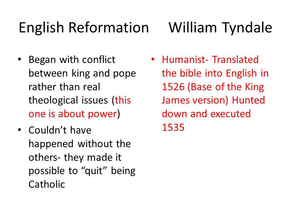 English Reformation William Tyndale
