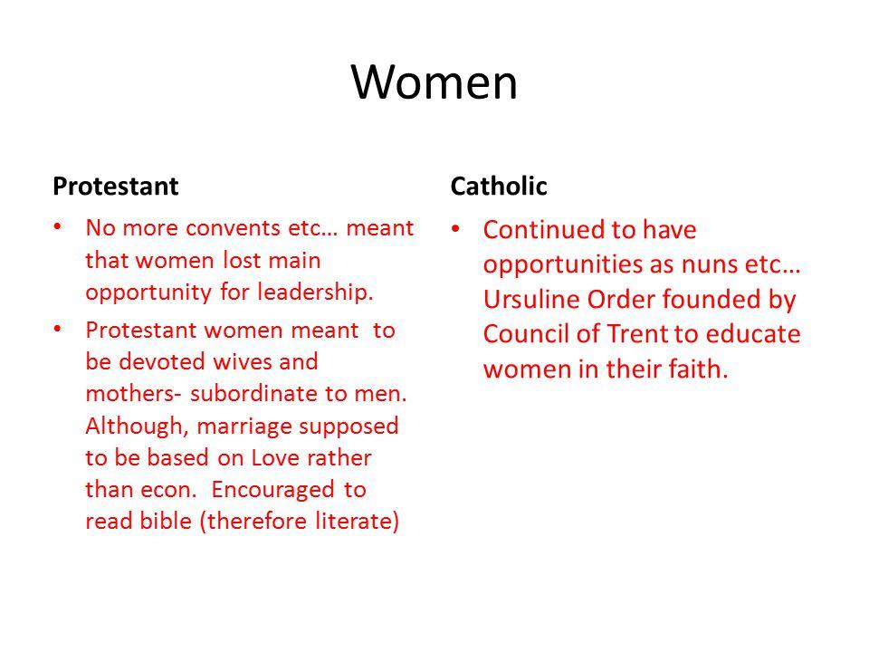 Women Protestant Catholic