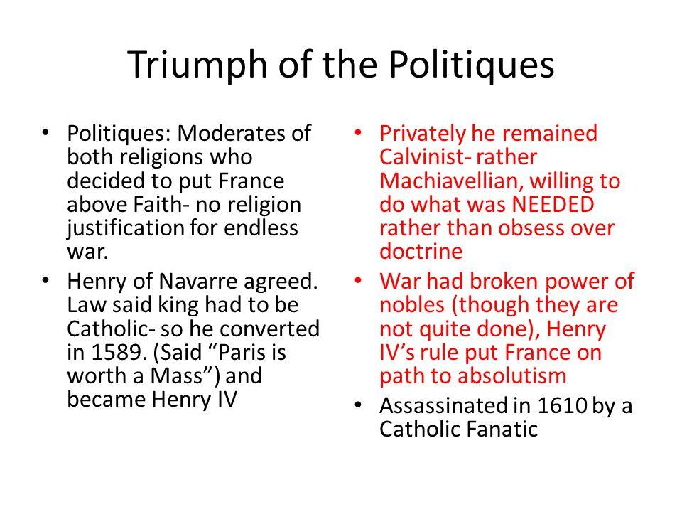 Triumph of the Politiques
