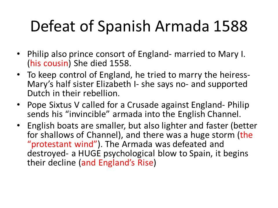 Defeat of Spanish Armada 1588