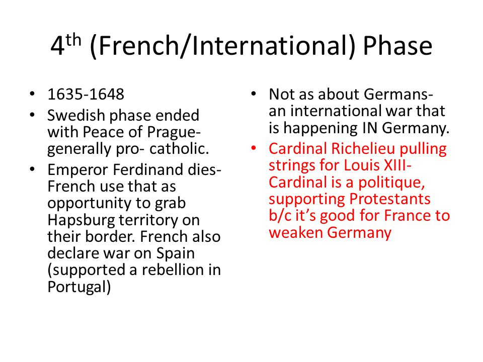 4th (French/International) Phase