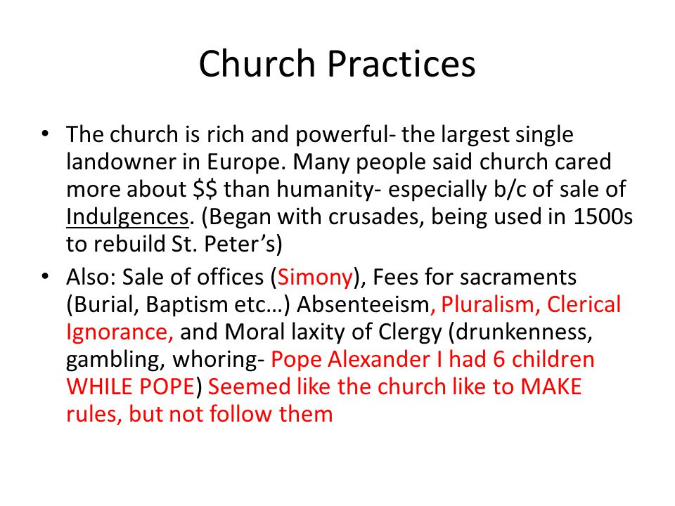 Church Practices