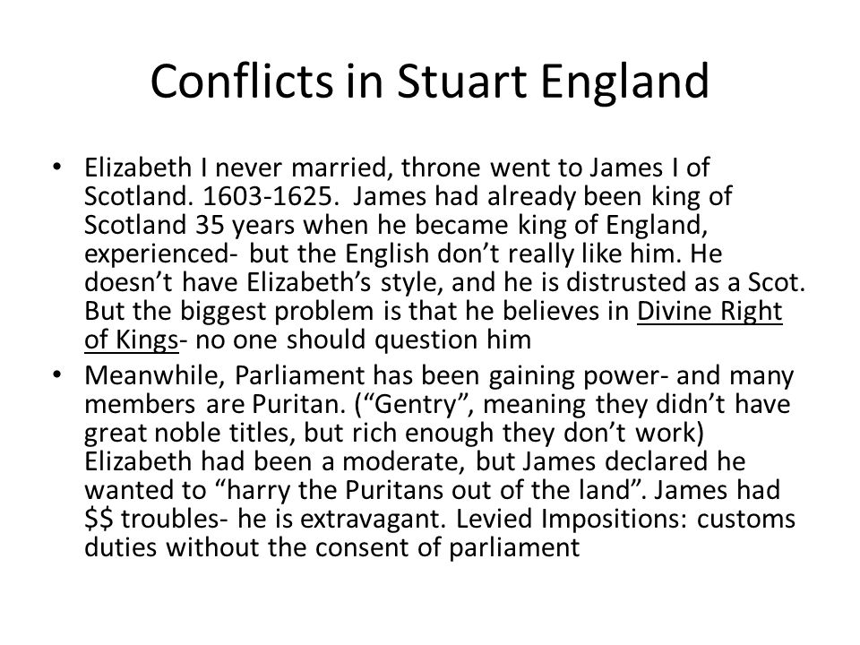 Conflicts in Stuart England
