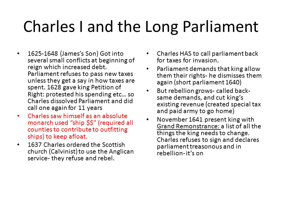 Charles I and the Long Parliament