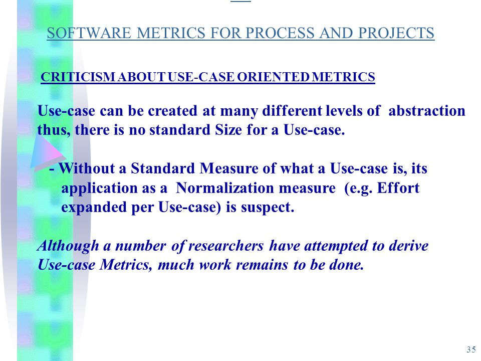 SO SOFTWARE METRICS FOR PROCESS AND PROJECTS
