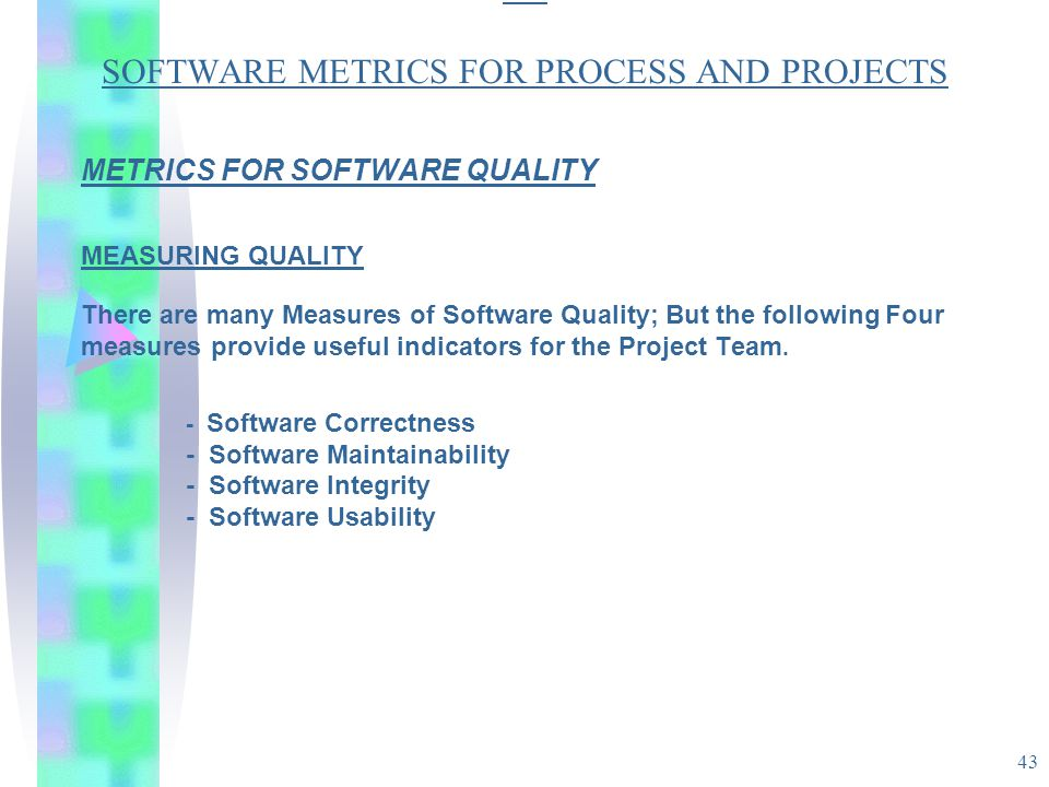 Software Quality Metrics Overview
