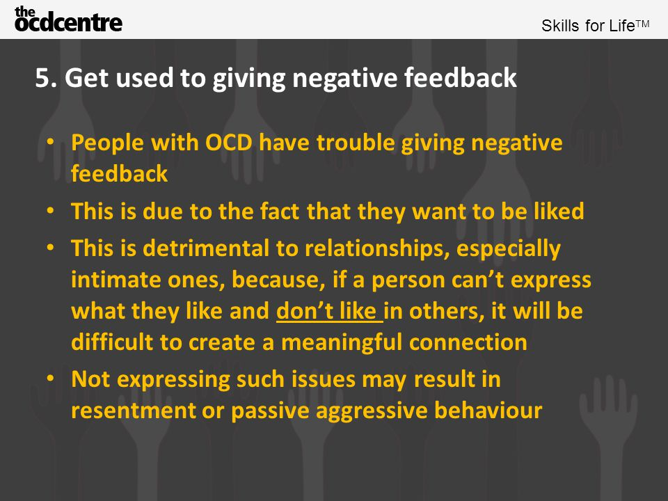 5. Get used to giving negative feedback