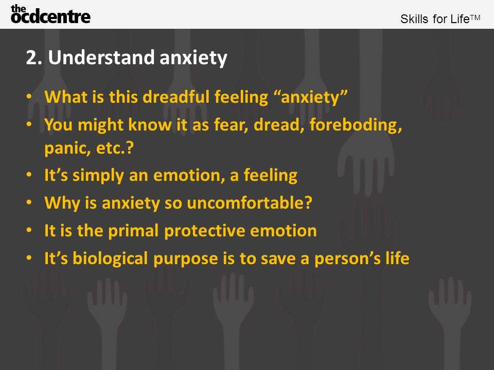 2. Understand anxiety What is this dreadful feeling anxiety