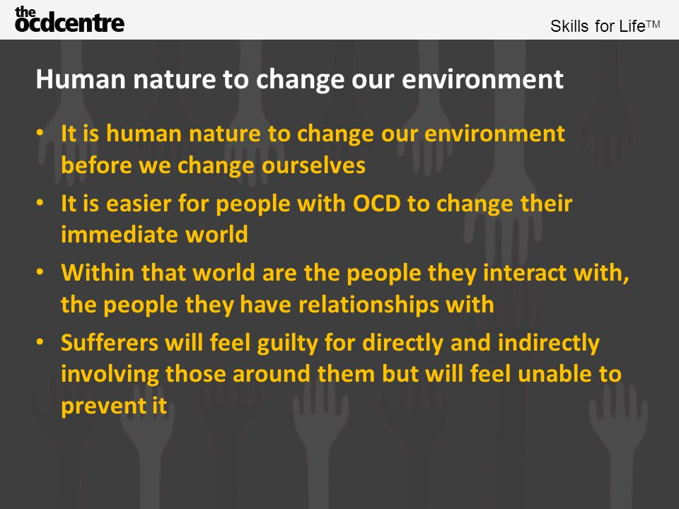 Human nature to change our environment
