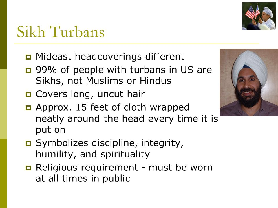 Sikh Turbans Mideast headcoverings different