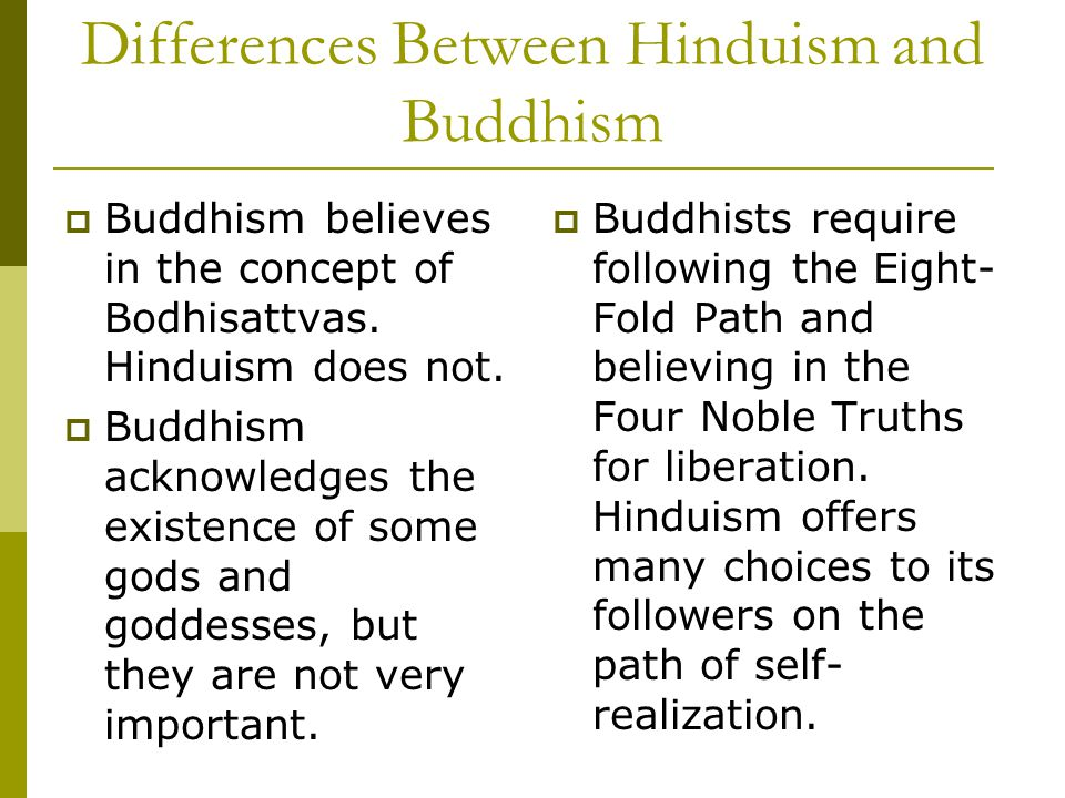 Differences between hinduism and buddhism essay