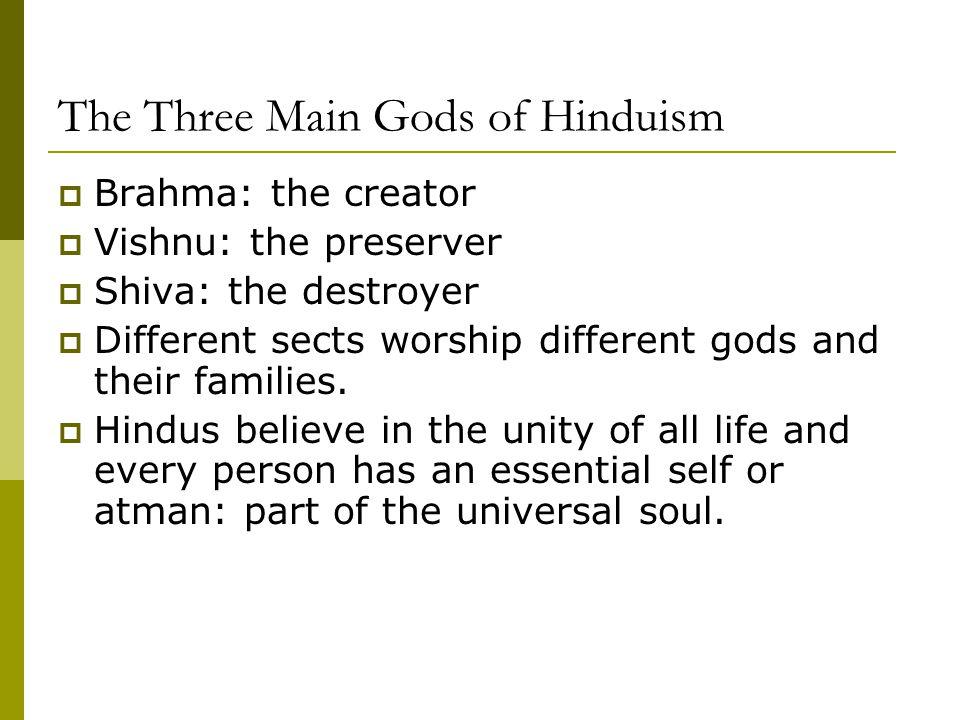 The Three Main Gods of Hinduism