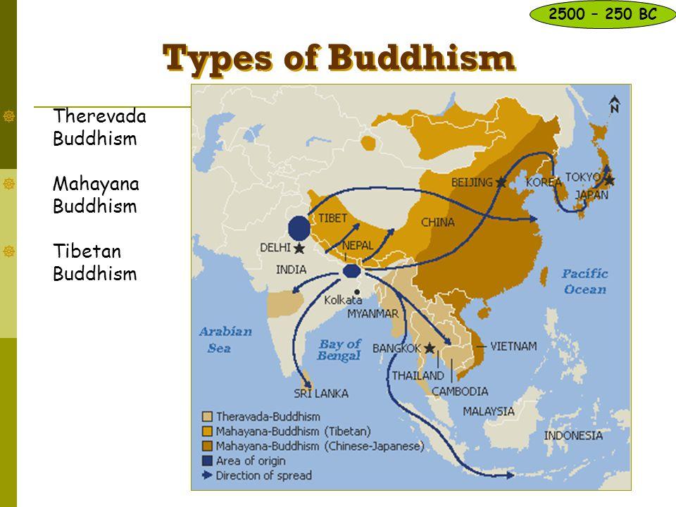 Types of Buddhism Therevada Buddhism Mahayana Buddhism
