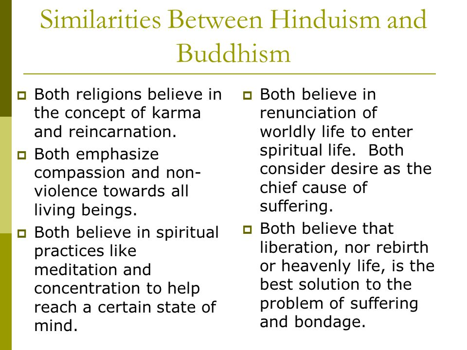 Comparison Between Buddhism and Hinduism Essay