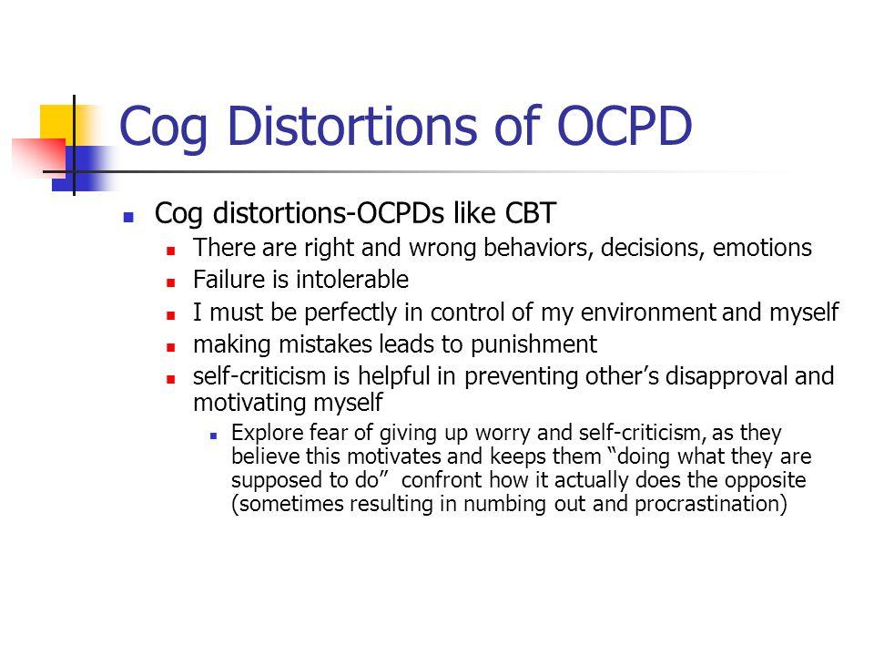 Cog Distortions of OCPD