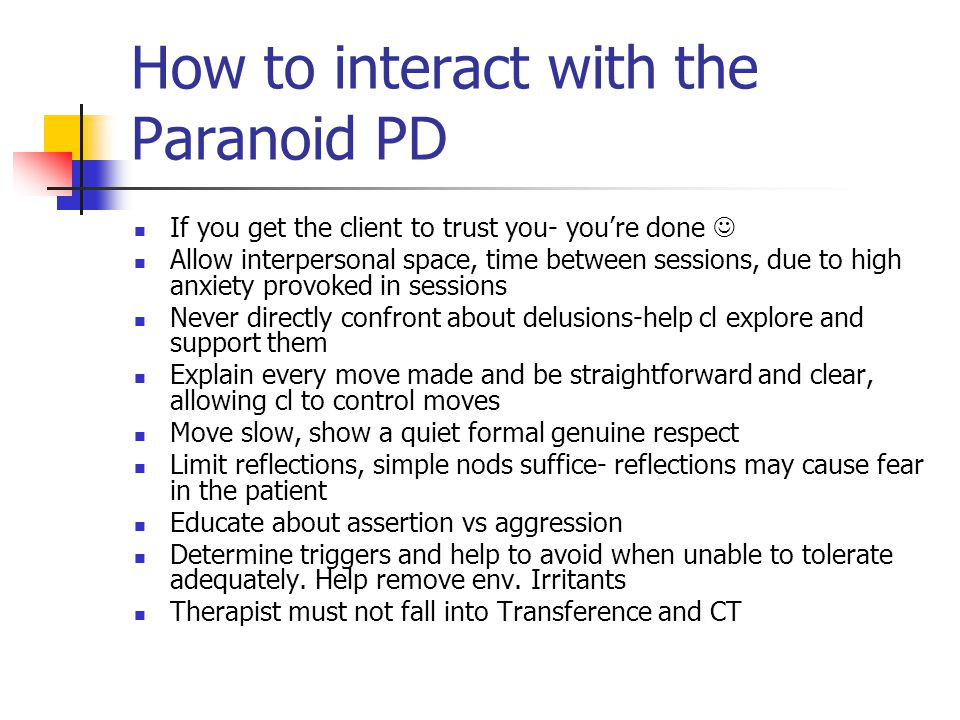 How to interact with the Paranoid PD