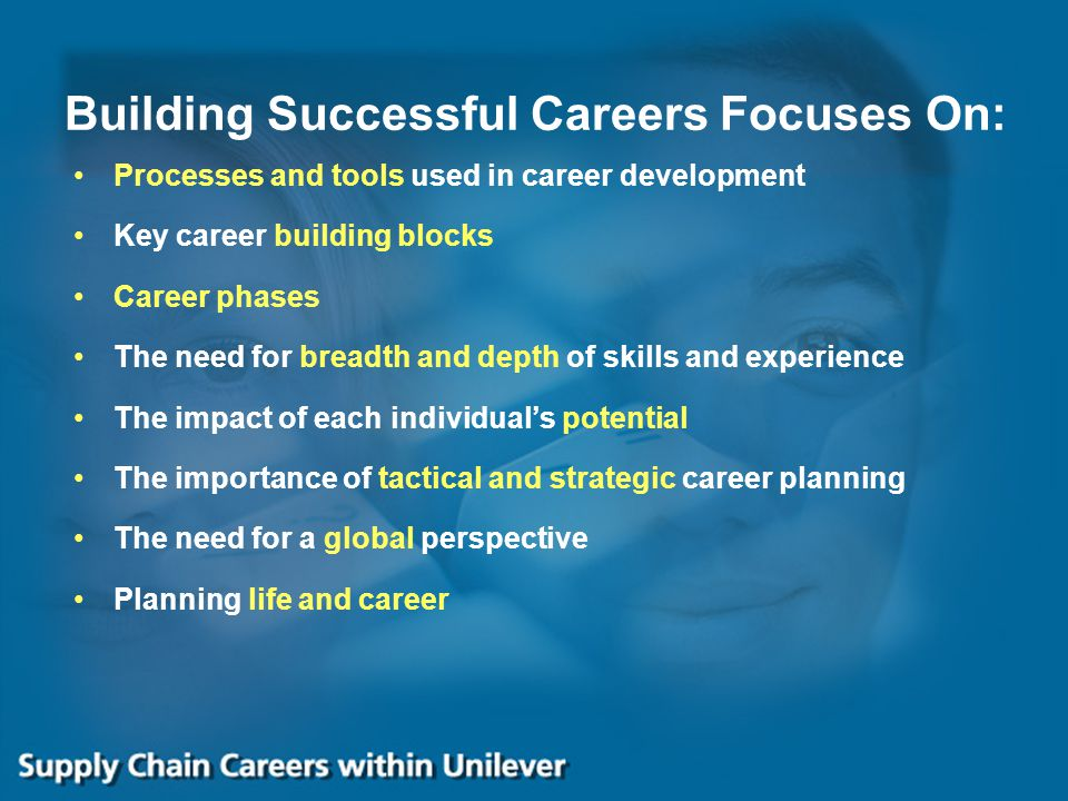 Building Successful Careers Focuses On: