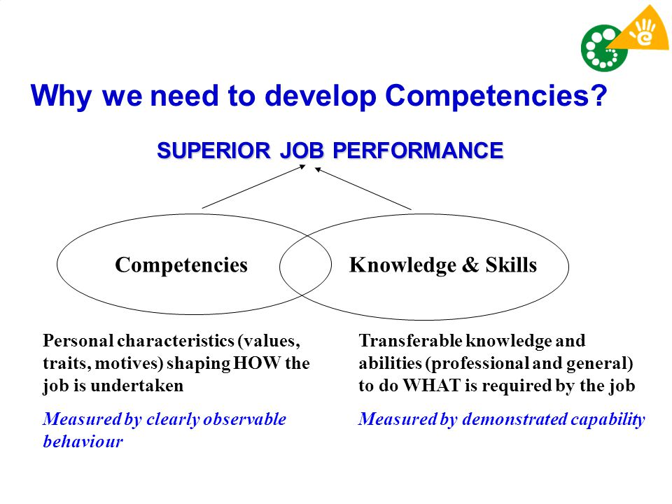Why we need to develop Competencies