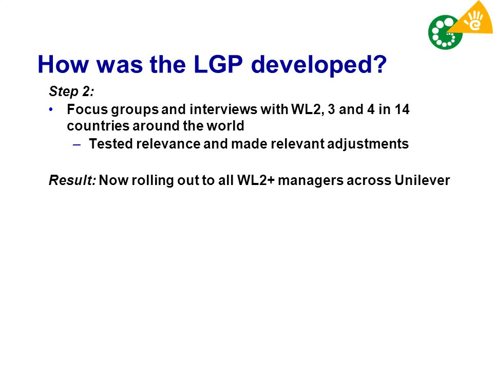 How was the LGP developed