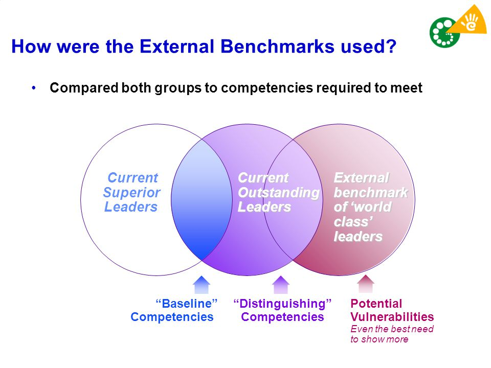 How were the External Benchmarks used