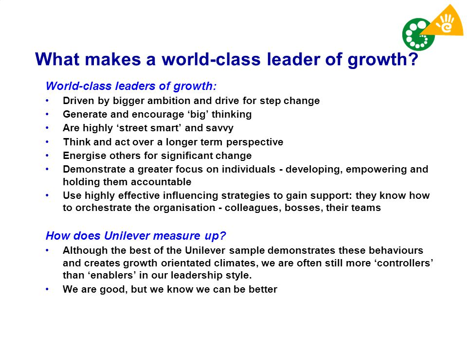 What makes a world-class leader of growth