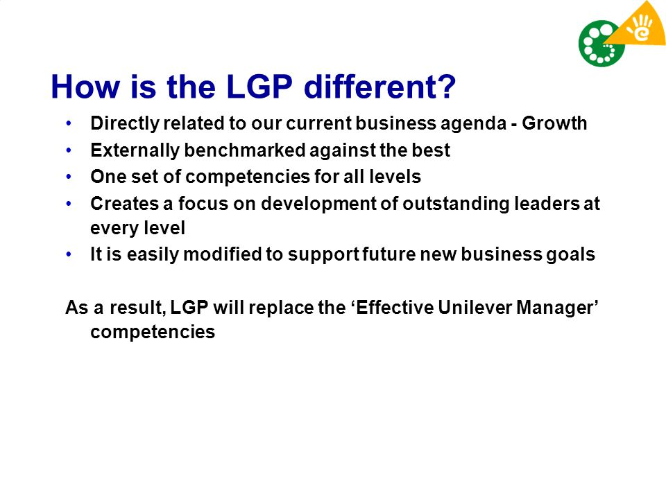 How is the LGP different