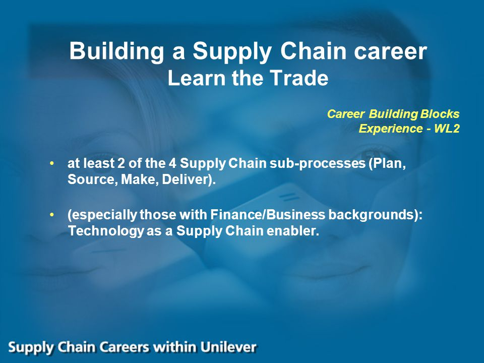 Building a Supply Chain career Learn the Trade