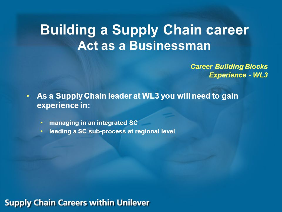 Building a Supply Chain career Act as a Businessman