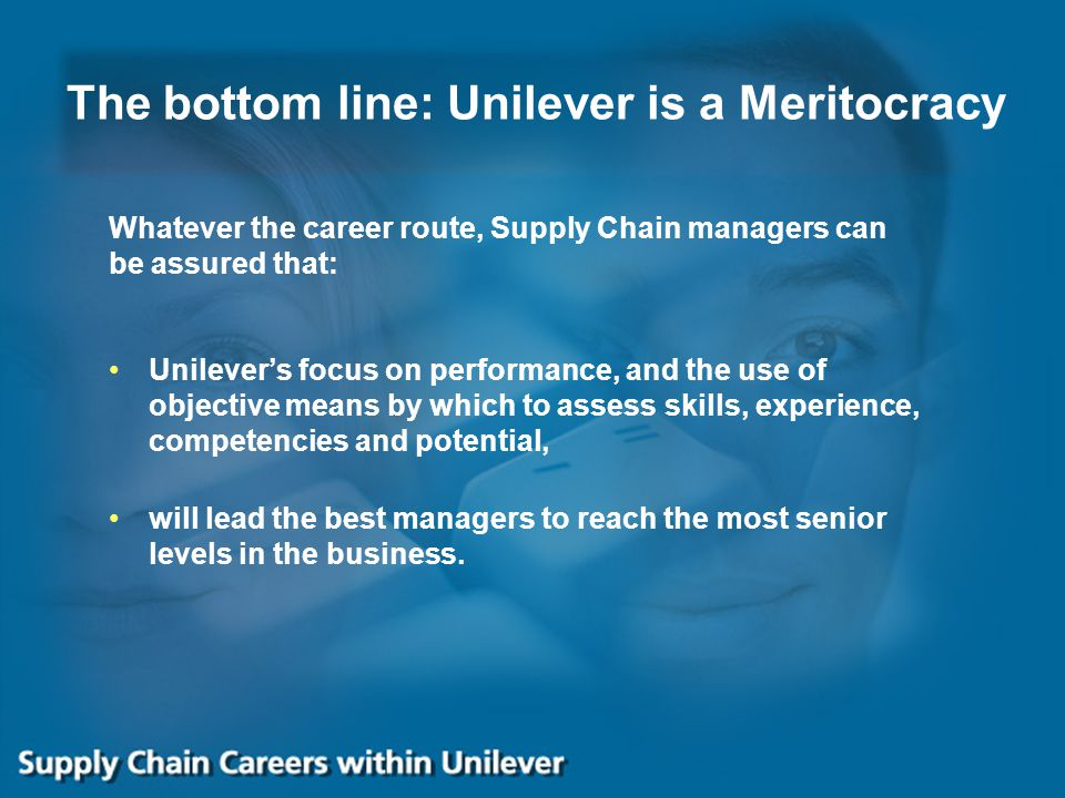 The bottom line: Unilever is a Meritocracy