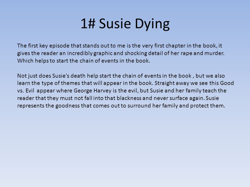 1# Susie Dying