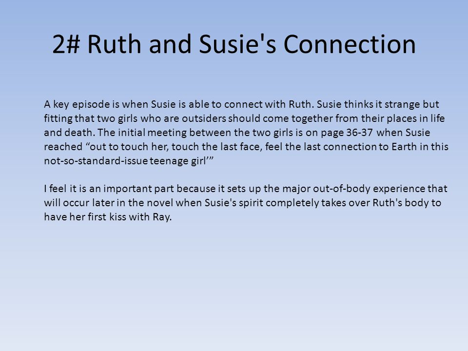 2# Ruth and Susie s Connection