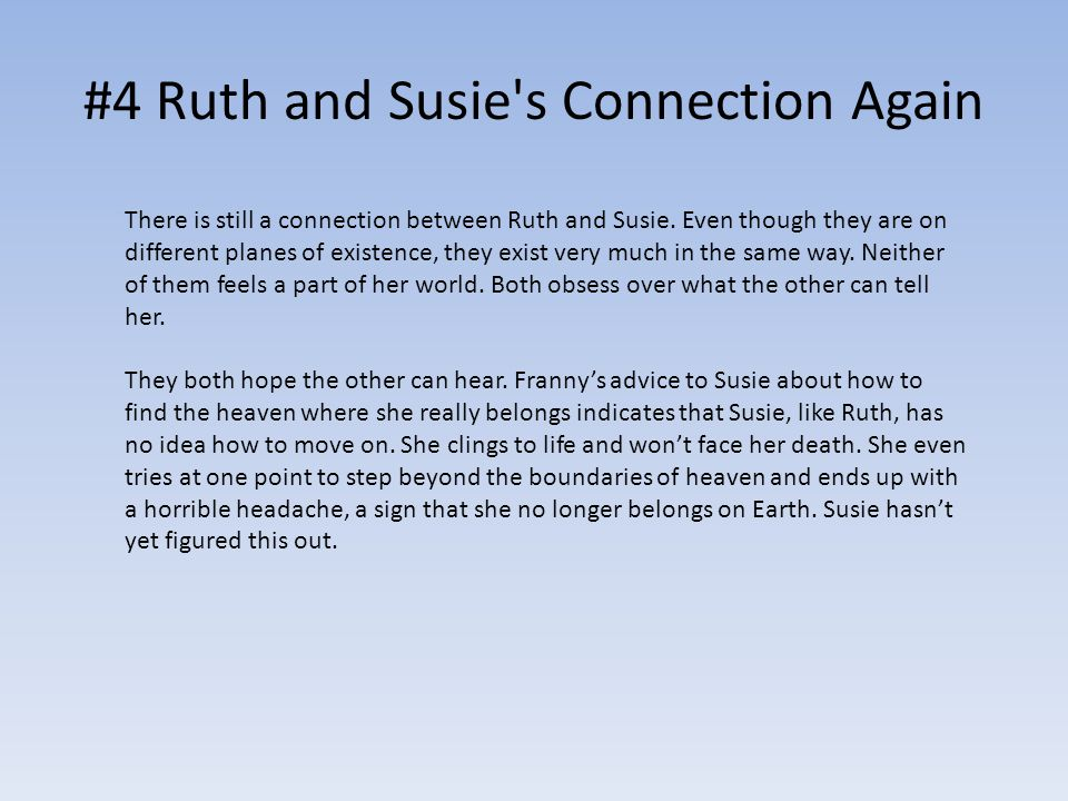 #4 Ruth and Susie s Connection Again