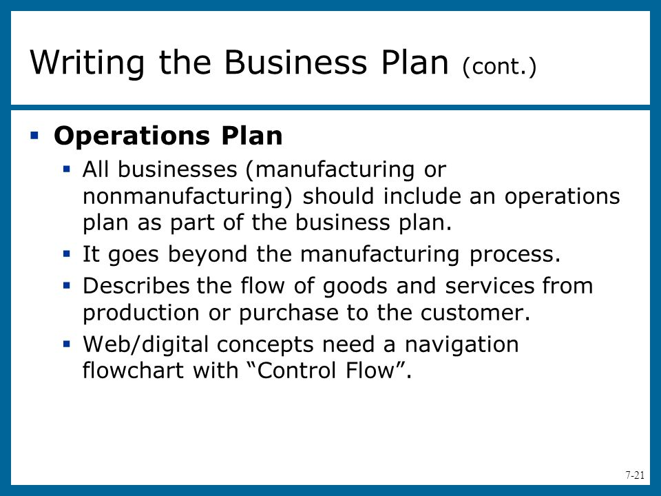 Writing a service business plan