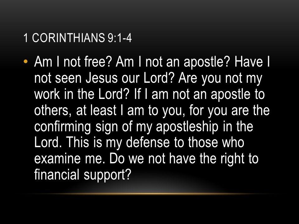 1 Corinthians 9:1-4