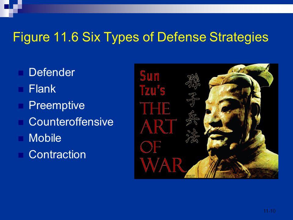 Figure 11.6 Six Types of Defense Strategies